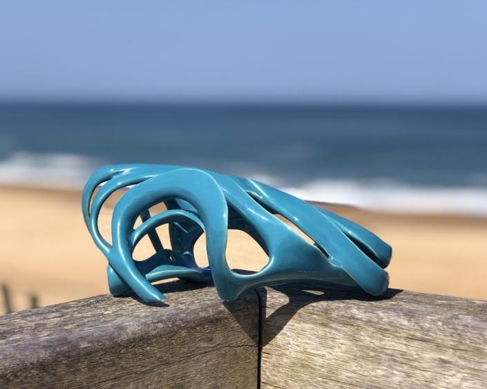 Photo de la sculpture Abandonnée à la plage d'Ondres dans les landes