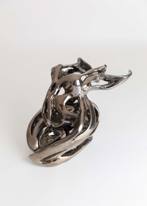 Julie Espiau Sculptures céramiques Emaillées Naïade Infinité Couleur Email Bronze Landes France