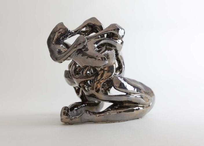 Julie Espiau Sculptures céramiques Emaillées Naïade Infinité Couleur Email chrome à effets Biarritz France