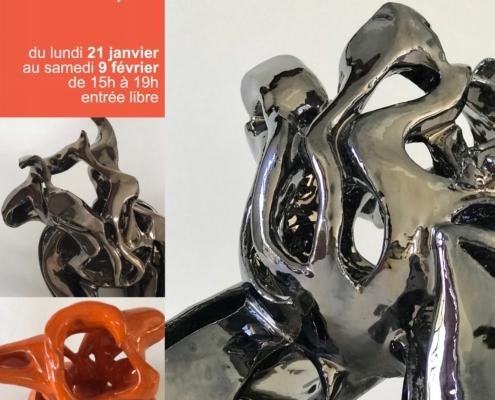 Exposition Julie Espiau - Sculptures céramiques - Galerie des Corsaires- - Bayonne Pays basque France Janvier 2019