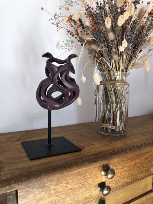 Volute océane Mystérieuse Julie Espiau Sculpture céramique contemporaine Biarrit
