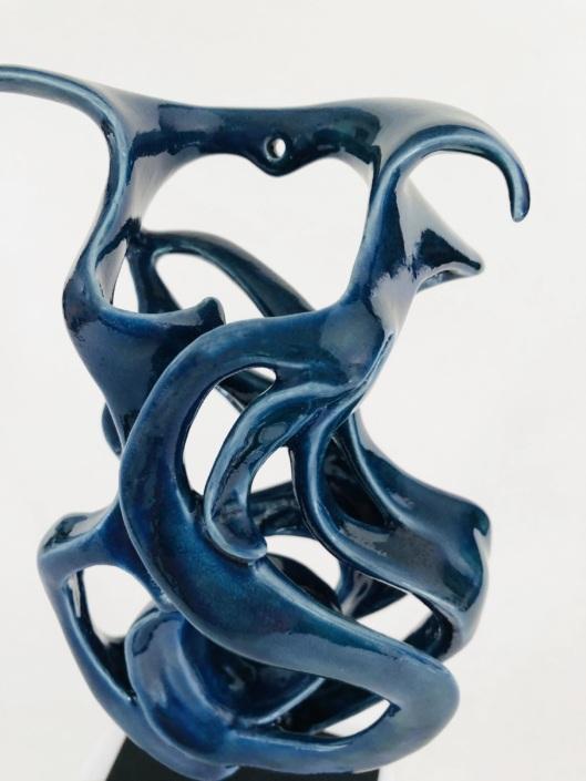 Volute océane Brise Marine Julie Espiau Sculptures céramiques contemporaines Ob Art Bordeaux