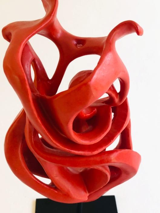 Volute océane Ardente sculpture céramique contemporaine Julie Espiau Artiste sculpteur céramiste
