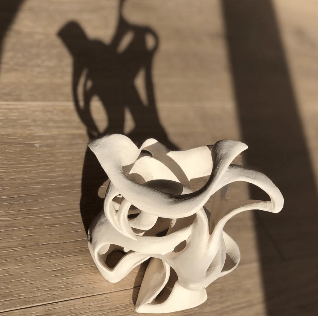 Les vides et les pleins, la lumière et l'ombre. Sculpture en cours Atelier d'art Julie Espiau