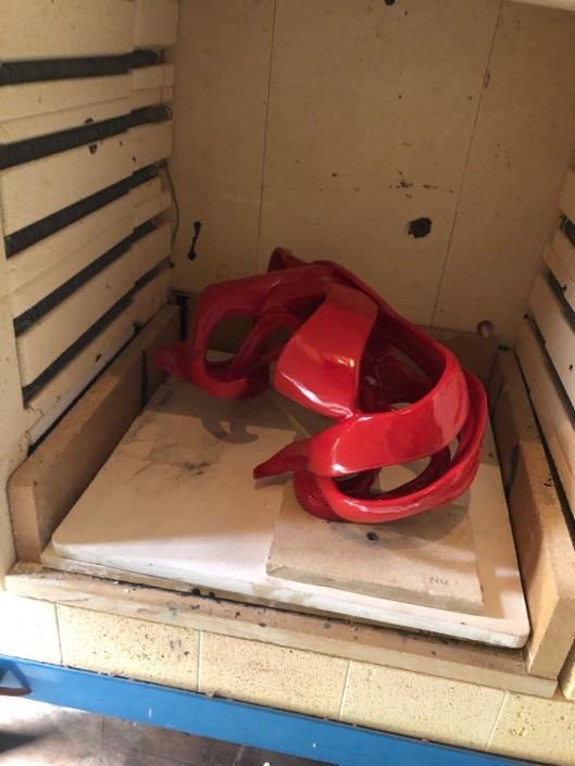Sortie de four pour la sculpture Ellipse
